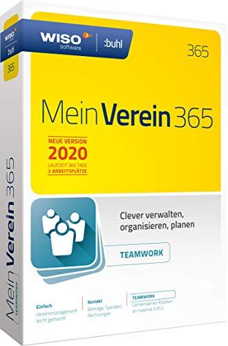 WISO Mein Verein 365 Teamwork (aktuelle Version 2020) Clever verwalten, organisieren und planen|Disc in Standardverpackung
