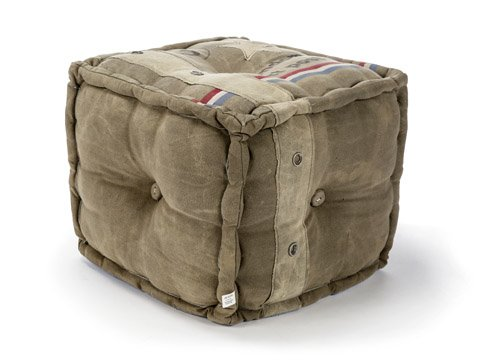 The Barrel Shack The Nixon - Handmade Pouf from