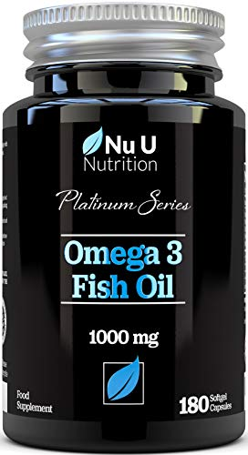 Omega 3 Fish Oil 1000mg Double Strength EPA & DHA Softgel Capsules |...