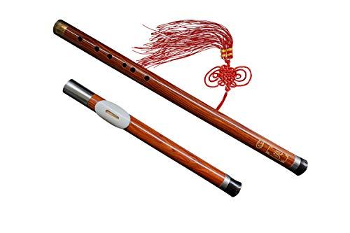 Flauta Bawu de Sándalo Instrucmento Ba Wu de Viento de Madera Desmontable #103