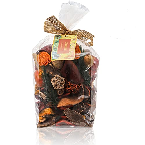 ZOOFOX Bergamot Orange Potpourri Bag, Home Fragrance Perfume Sachet, Dried Flower Petals, Decorative Filler with Delightful Aroma for Bowl Vase, Home and Spa Fragrance, Great for The Holidays, 12oz