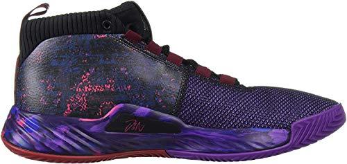 adidas Men's Dame 5 Basketball Shoe, Black/Collegiate Burgundy/Scarlet, 7.5 M US