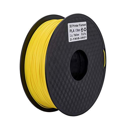 Ender PLA Filament 1.75mm 3D Printer Filament PLA for 3D Printer 1kg Spool (2.2lbs), Dimensional Accuracy of +/- 0.02mm PLA Yellow