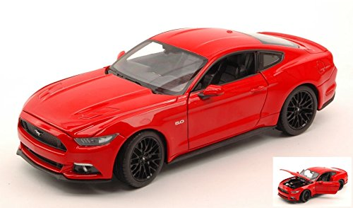 FORD MUSTANG GT 2015 RED 1:24 Welly Auto Stradali modello modellino die cast