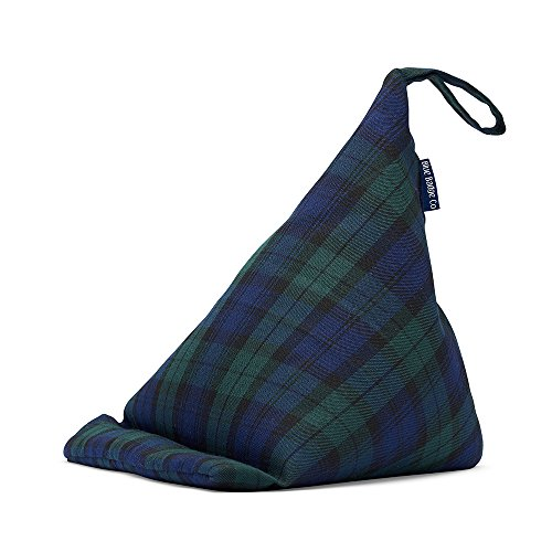Blue Badge Co, standaard voor tablet in de vorm van een kleine zitzak, beanbag in ruitpatroon