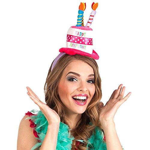 Boland 00940 - Hut Geburtstag, Mehrfarbig, Unisex, Mütze, Torte, Happy Birthday, Geschenk, Überraschung, Party, Dekoration