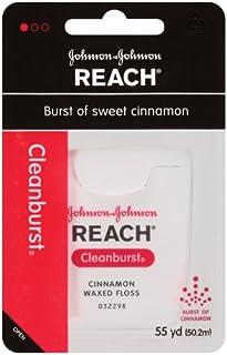 Reach Waxed Dental Floss, Cleanburst Cinnamon, 55 Yards (Pack of 4)