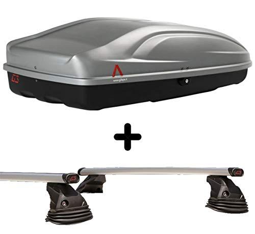 PROPOSTEONLINE Box Baule Realizzato per Ford C-Max (2010-2014) Tetto Auto Set con Barre Portatutto Portabagagli Portapacchi con Vano Grande