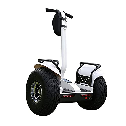 DUTUI Off-Road Electric Balance Scooter Two-Wheel Adult Scooter Children's Intelligent Two-Wheel Somatosensory Patrol Parallel Car,White