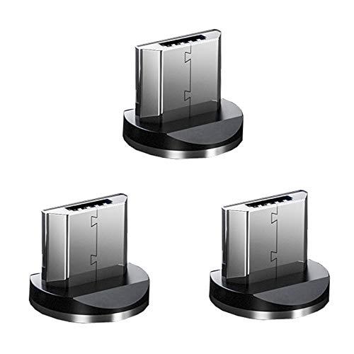Top-Longer 3 Pack Micro USB Adapters Magnetic Charging Plug -Sin Datos de Sincronización