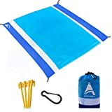 AISPARKY Beach Blanket,Picnic Blanket Large Sand Free Compact for 7 Persons Water Proof Quick Drying Beach Mat Made by Premium Nylon Pocket Picnic Sheet for Outdoor Travel (78' X 81')