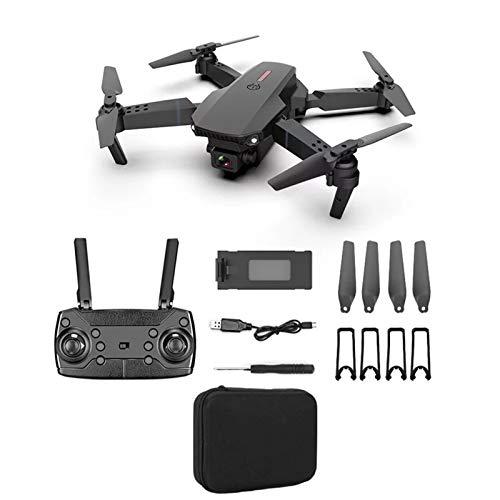 H87yC4ra E88 Drone Mini Drone Plegable Con Cámara Dual 4k HD, 1080P WiFi FPV RC Quadcopter Altura De Rotación De Alta Velocidad Drones Con Cámara Para Adultos Niños Negro 4K