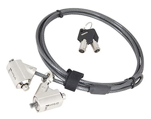 Urban Factory crs02uf Sicherheits-Zylinderschloss für Laptop schwarz Rauchmelder