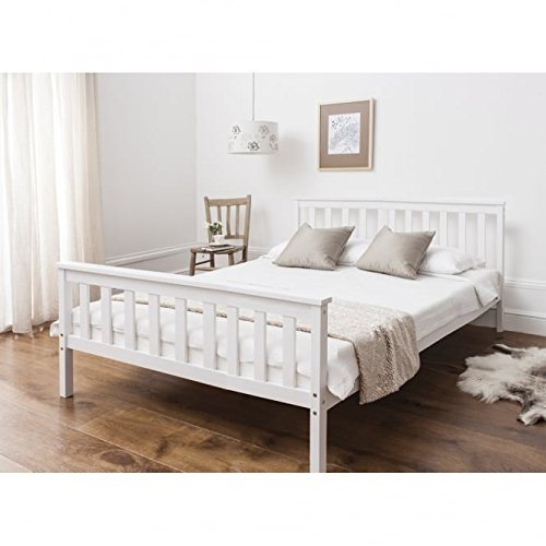 Double Wooden Bed Frames Amazoncouk