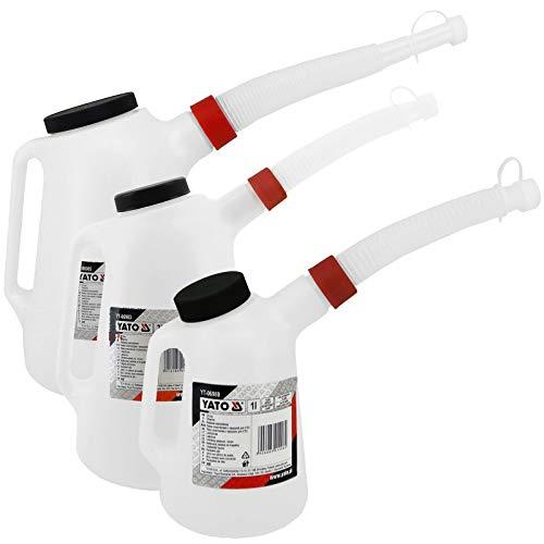 Ölkannen Set 1 | 3 | 5 Liter Behälter mit flexiblen Ausgießer Füllkanne Kunststoff Ölbehälter