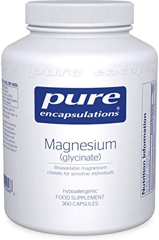 Pure Encapsulations - Magnesium (Glycinate) 120mg - Bioavailable Magnesium Chelate Tiredness and Fatigue Supplement - 180 Capsules