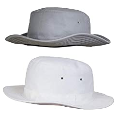 Zacharias Mens Cricket Umpire Hat Pack of 2 Light Grey & White