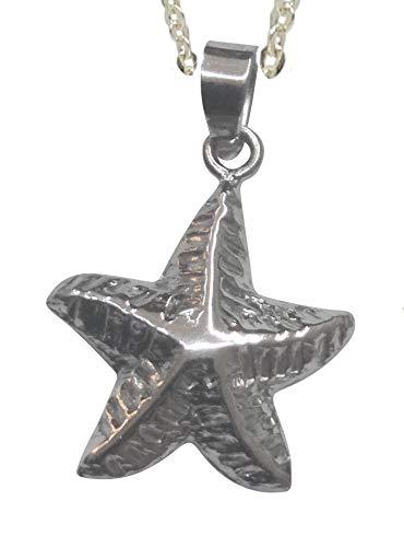 Sicuore Colgante Collar Estrella de Mar para Mujer Hombre - Plata De Ley 925 Incluye Cadena De Plata De 45cm Y Estuche para Regalo
