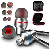 Ear Buds Earbuds Wired aux 3.5mm Plug Phones Music Headphones Computer pc Android thinkpad Laptop Wire Metal mic Earphones mp3 Player Electronics Noise Cancellation Gym audifonos regulares s7 Best