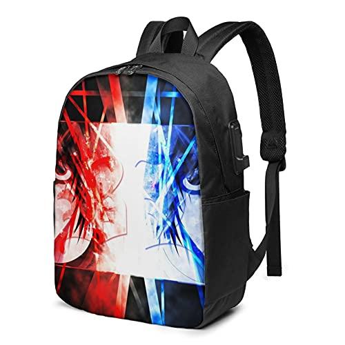 Mochila portátil con puerto de carga USB mochilas de viaje bolsas casuales para niños niñas adolescentes, Death Note 7, Talla única