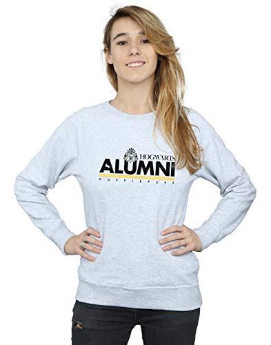 Harry Potter Damen Hogwarts Alumni Hufflepuff Sweatshirt Sport Grau Small