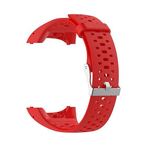 Facibom Pulsera de Silicona para Correa de Mu?Eca para Polar M400 M430 GPS Sports Smartwatch Reemplazo de Correa de Reloj Correa de Banda con Herramienta Rojo