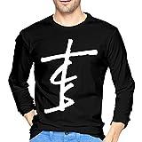 Eshanqulon The Chain-Smokers Music for Men's Fashion Long T-Shirt Black