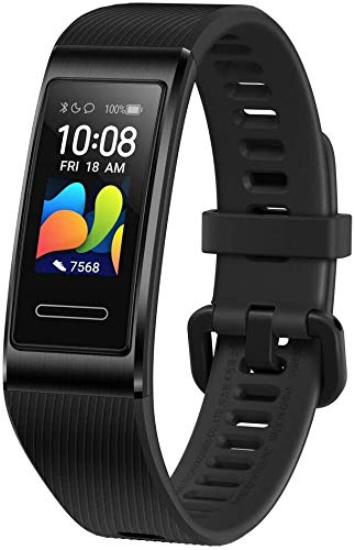 "HUAWEI Band 4 Pro Smart Band Fitness Tracker, Touchscreen AMOLED 0.95"", Monitoraggio Battito Cardiaco, Monitoraggio Scientifico del Sonno, GPS Integrato, Resistente all'Acqua, Black"