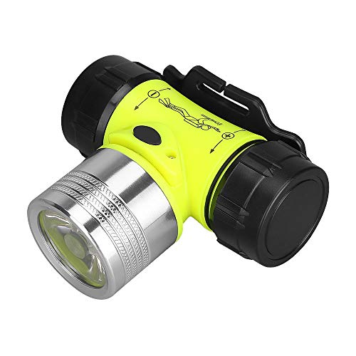JUNLILIN Lampe Frontale LED Waterproof Diving Swimming LED Headlamp 4 Mode Underwater Headlight Fishing Lamp Use Battery LED Flashlight