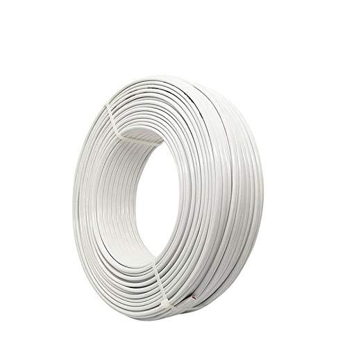 LEYUANA 2/3/4 Pins Core Pure Copper Haushaltskabel Stromleitung, 1 Meter BVVB/RVV weißer Draht 4 / 6mm2 quadratische harte weiche Abdeckung 3PinHardWire4mm2