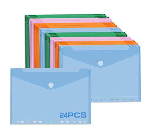 Bolsillos para documentos A4 con cierre de velcro, bolsillo para documentos A4 para archivo en color, bolsillo para documentos A4 para archivo, A4 transparente flexible 🔥