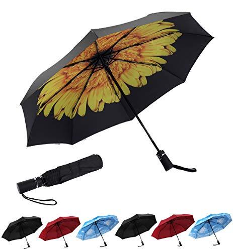 SY Compact Travel Umbrella Automatic Windproof Umbrellas Strong Compact Umbrella for Women Men
