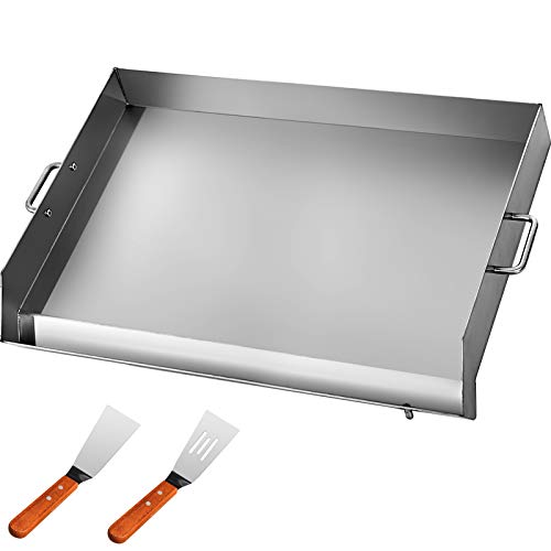 """VEVOR Universal Flat Top 36"""" x 22"""" Griddle for BBQ Grills Stainless Steel Non-Stick Burner with Removable Handles Grill Toppers"""