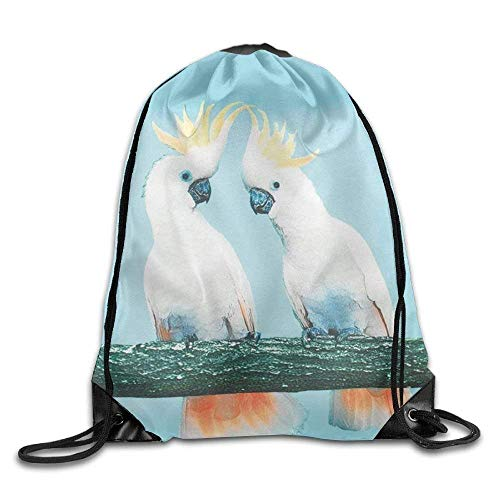 GDESFR Mochila con cordón Yellow-Crested Cockatoo Drawstring Backpack Rucksack Shoulder Bags Training Gym Sack For Man and Women