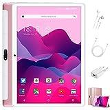 Tablet 10 Pulgadas 4 GB RAM 64GB ROM/128GB Expandido Android 10.0 Ultrar-Rápido Tablets 4G Dual SIM / WiFi 8000mAh Batería Quad Core (GPS, Bluetooth, Netfilix,Type-C) - Certificación Google GMS