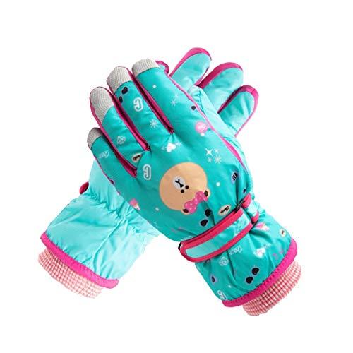 YQRJYB Winter Ski Cartoon Handschoenen Thermische Warm Winddicht Waterdicht Voor Kinderen Snowboarden Fietsen Skiën Rijden