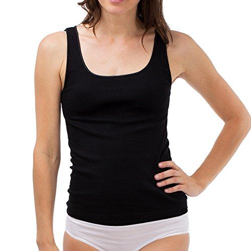 SCHÖLLER Damen Achselhemd I Damen Unterhemd I 51141-44-500 I Größe 38 I Farbe Schwarz