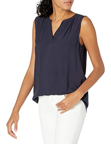 Amazon Essentials Camiseta sin Mangas Tejida Dress-Shirts, Azul Marino, M