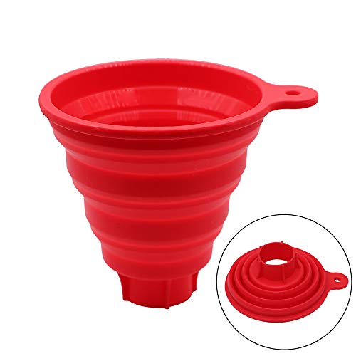 KongNai Silicone Collapsible Funnel for Jars, Foldable Large Canning Jar Funnel for Wide Mouth and Regular Jars, Food Grade Jam Spice Funnel for Canning Transferring of Liquid Solid Bean (1 Size)