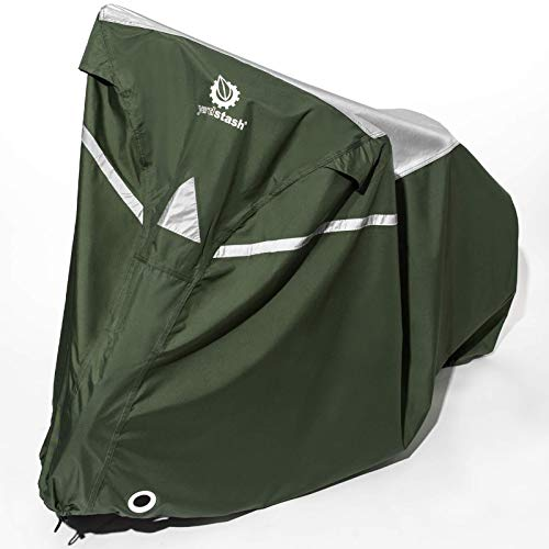 YardStash Bike Covers Outdoor Storage Waterproof - Safe, Reflective Outdoor Bicycle Cover Multiple...