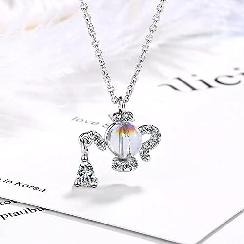 N/A Damen Halsketten Anhänger Schmuck Geschenke Wasserkocher geformte Wassertropfen Gradient Mondstein Anhänger Halskette für Frauen Geburtstagsgeschenk