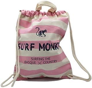Mochila Saco Marinera Surf Monkey 12L - Mochila Algodón peinado - Tejido duradero - dimensiones 37 x 46 cm