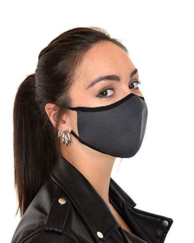 Relaxsan UNIMA [Grigio] – Fascia viso di cortesia Luxury ultra leggera e traspirante filato Dryarn e argento X-Static