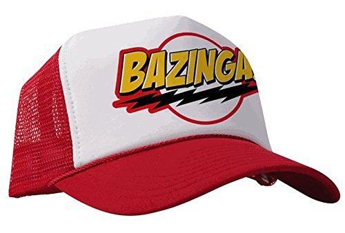 La Théorie Big Bang Bazinga. Blanc et Rouge Casquette de baseball réglable