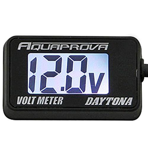 デイトナ AQUAPROVA (アクアプローバ) バイク用 電圧計 デジタル 防水 バックライト コンパクト ボルトメーター 92386