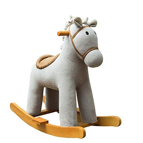 NEHARO Jouet d'équitation Bébé Rocking Horse Kid Ride on Jouet -Enfant Jouet équitation - équitation for 1-3 Year Old Debout Ride-on à Cheval avec Son Jouet (Couleur : Gris, Taille : 76X32X63CM)