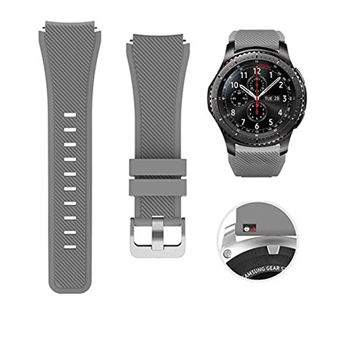 LYDBM Banda de Silicona de 22 mm para Samsung Galaxy Watch 46mm 42mm Correa Deportiva para Samsung Gear S3 Frontier/Clásico Activo 2 Huawei Watch 2 (Color : Color 10, Talla : For Galaxy 42mm)