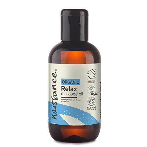 Olio da Massaggio Rilassante 100ml Certificato Biologico con Argan, Jojoba e Camomilla