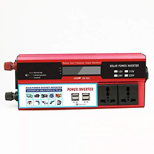NCBH Multifunctionele Car Inverter, 2000 W, omvormer, 12 V, mobiele telefoon oplader voor mobiele telefoon, mobiele telefoon en camping, reizen