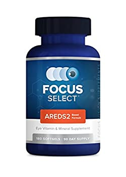 Focus Select® AREDS2 Based Eye Vitamin-Mineral Supplement - AREDS2 Based Supplement for Eyes  180 ct 90 Day Supply  - AREDS2 Based Low Zinc Formula - Eye Vision Supplement and Vitamin